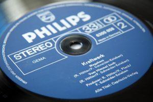 Kraftwerk 1 - Label der Erstpressung Philips