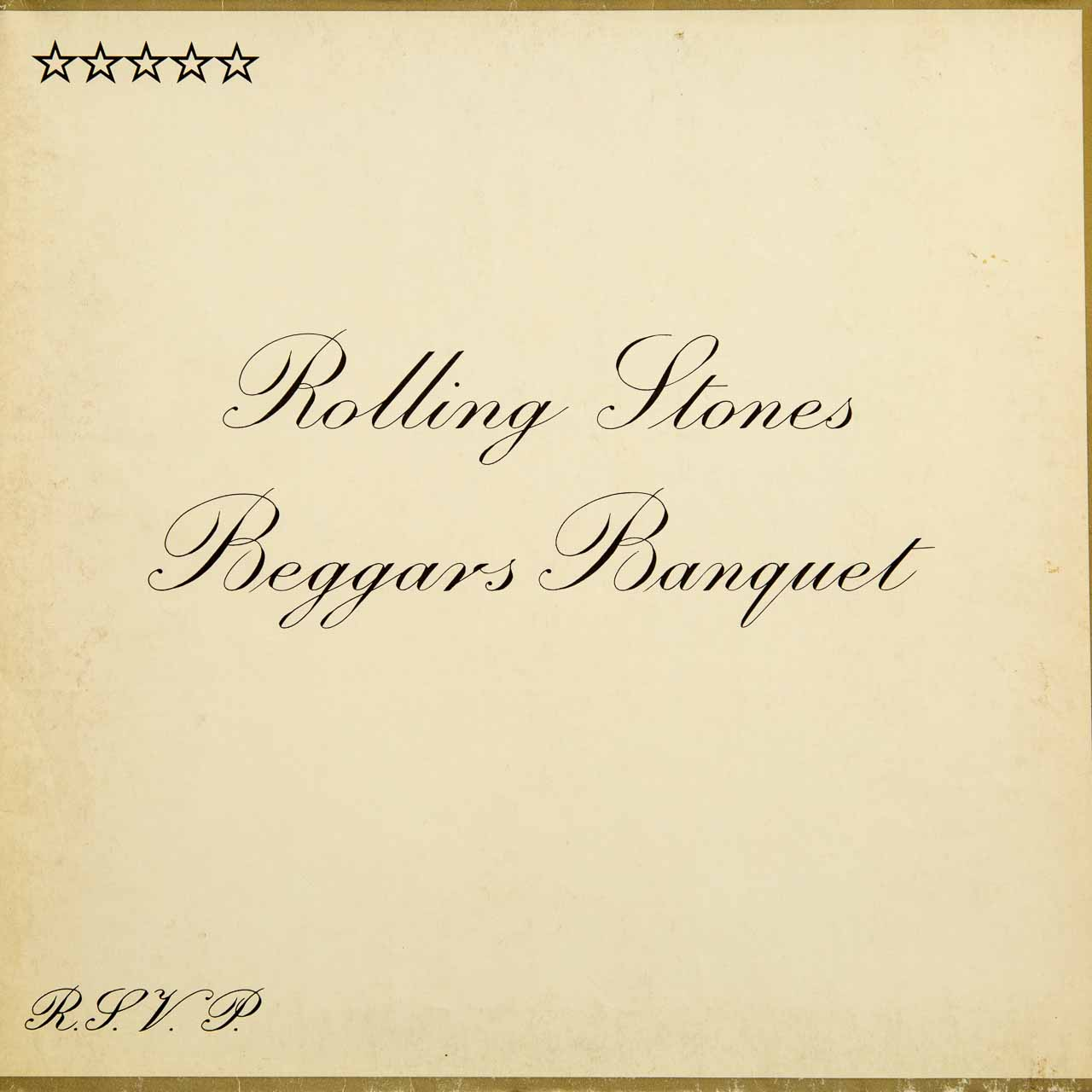 Rolling Stones - Beggars Banquet - Cover Front