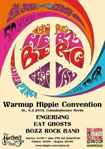 Poster Warm Up Hippie Convention