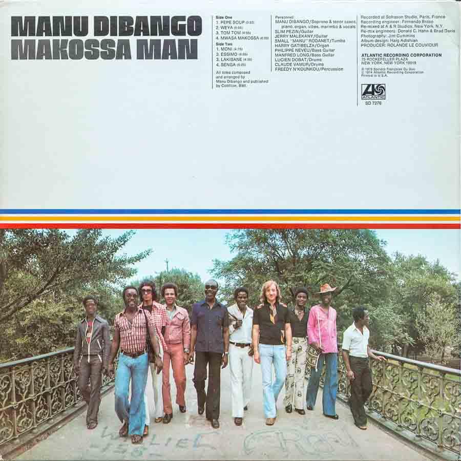 Manu Dibango Makossa Man Cover Back